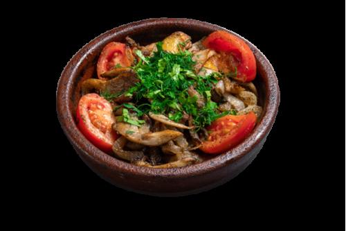 Adzhahuri with mushrooms