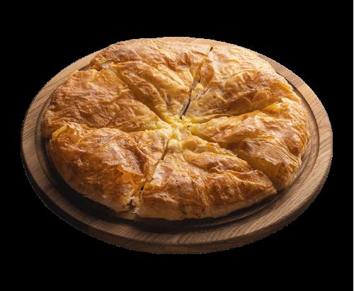 Puff khachapuri with cheese