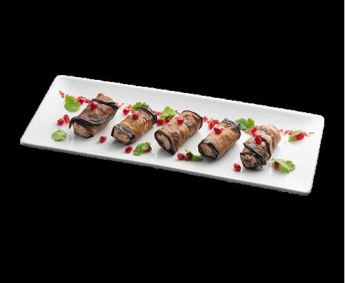 Рулетики из баклажана с ореховой начинкой