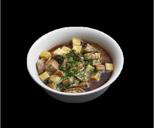 Soup with Carpathian porcini mushrooms